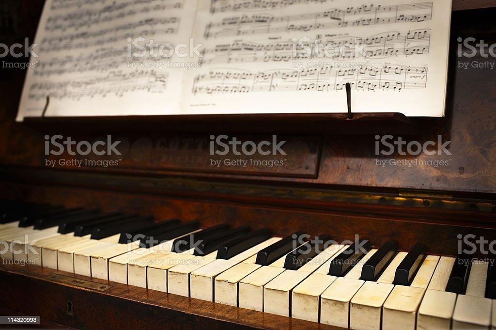 Antique piano stock photo