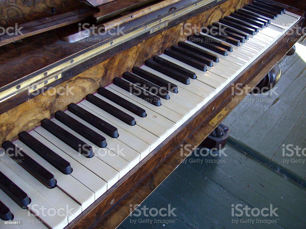Antique Piano royalty-free stock photo