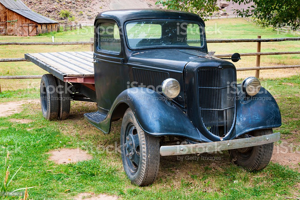 Antique pick up Ford stock photo
