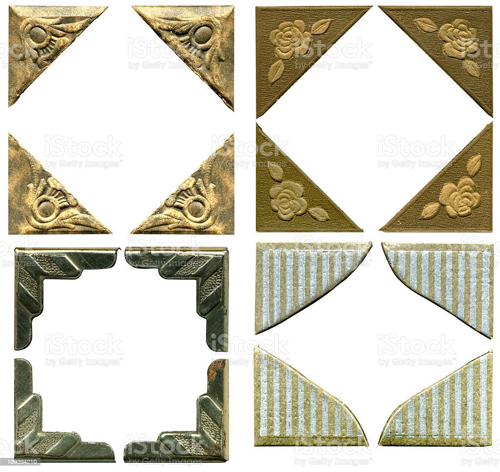 Antique Picture Corners -- 4 sets royalty-free stock photo