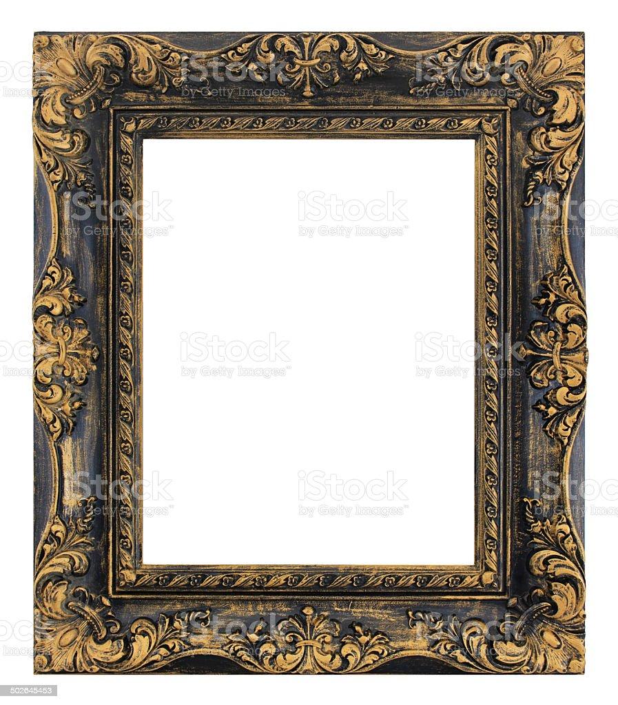 Antique Picture Frame - Rustic Fleur de Lis Style stock photo