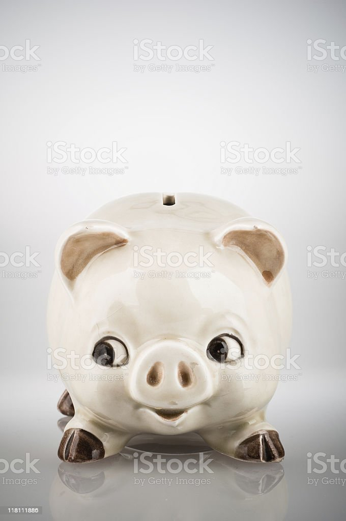 Antique Piggy Bank royalty-free stock photo