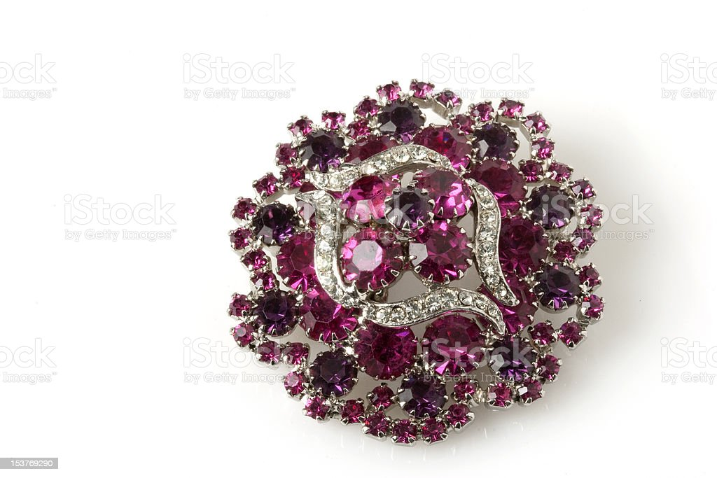 Antique Pink Brooch royalty-free stock photo