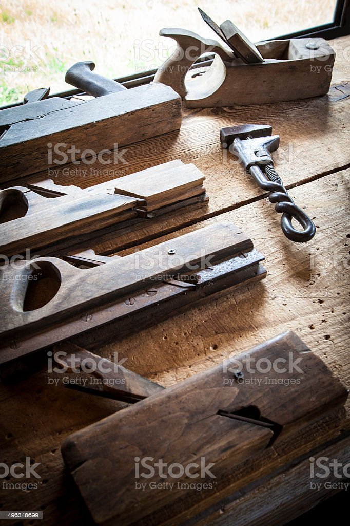 Antique Planers royalty-free stock photo