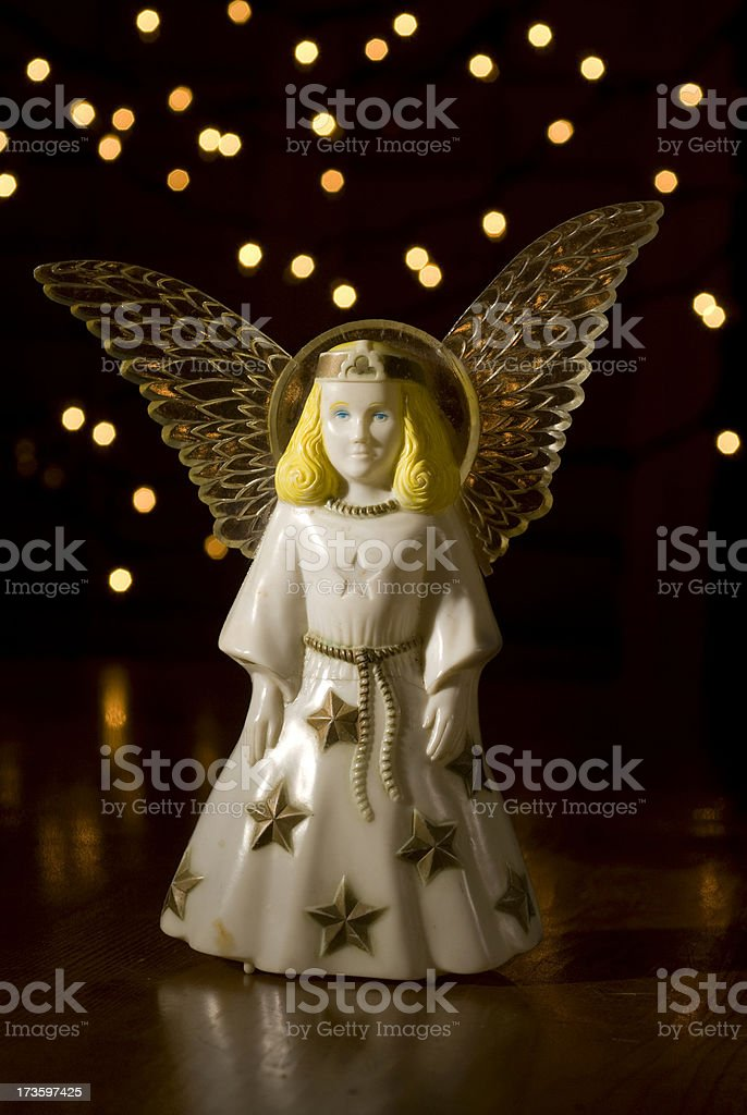Antique Plastic Angel. royalty-free stock photo