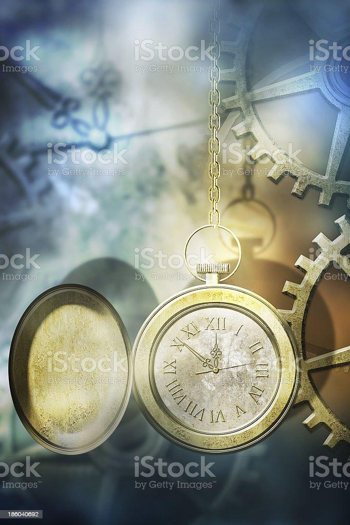 Antique pocket clock royalty-free stock photo