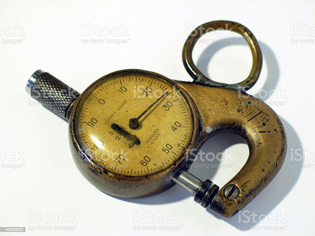 Antique Pocket Gauge Micrometer royalty-free stock photo