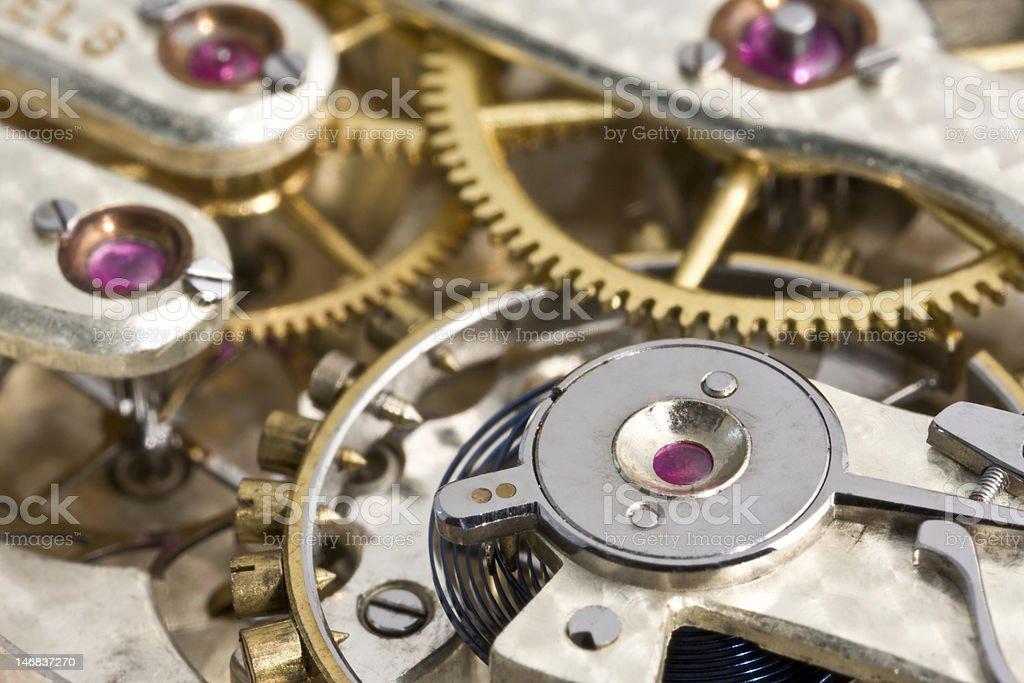Antique Pocket Watch Mechanism stock photo