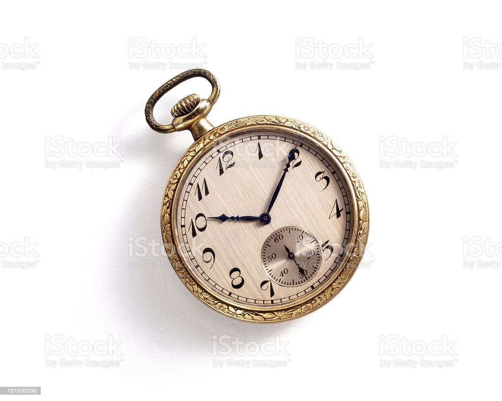 Antique pocket watch. stock photo