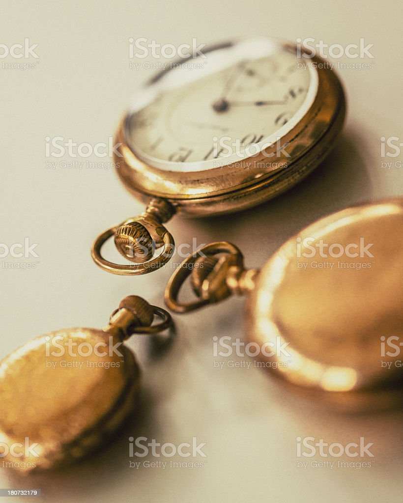 Antique Pocket Watches royalty-free stock photo