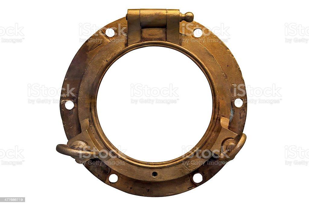 Antique Porthole stock photo