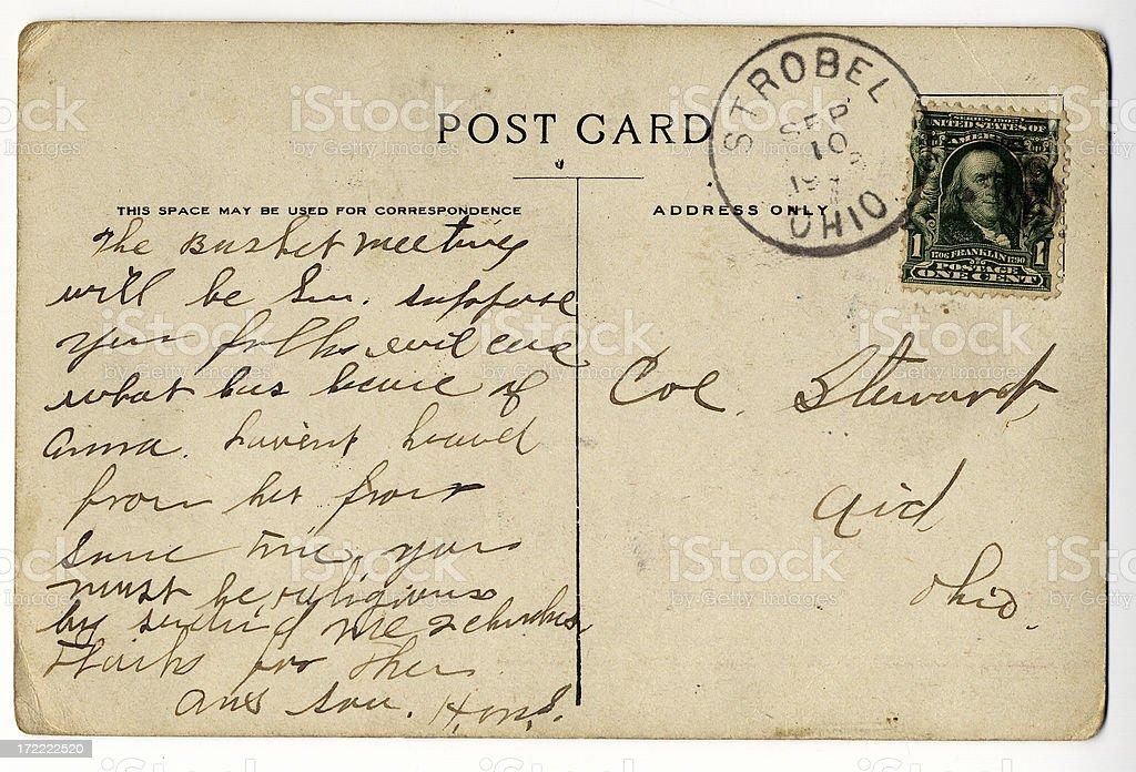 Antique postcard, normal stock photo