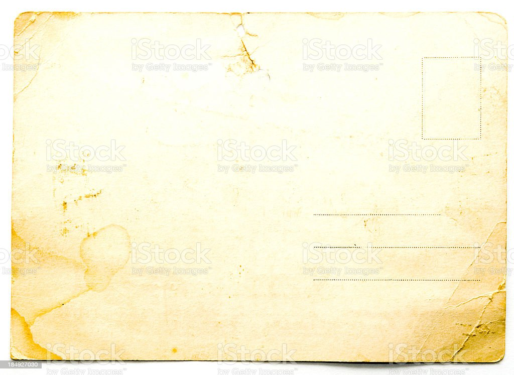 Antique Postcard royalty-free stock photo