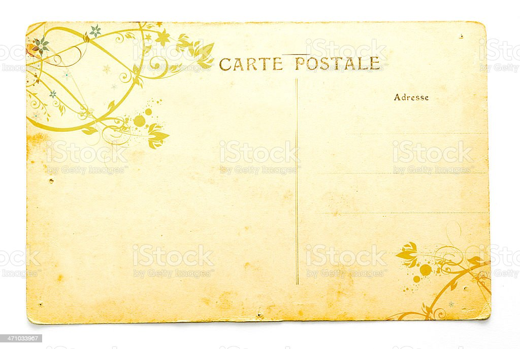 Antique Postcard royalty-free stock photo