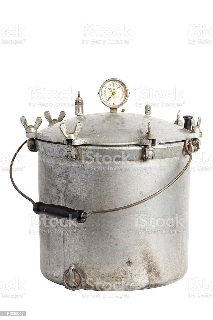 Antique Pressure Cooker / Canner stock photo
