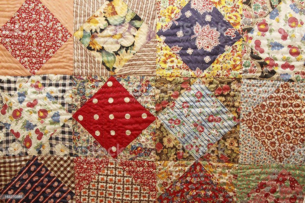 Antique Quilt stock photo