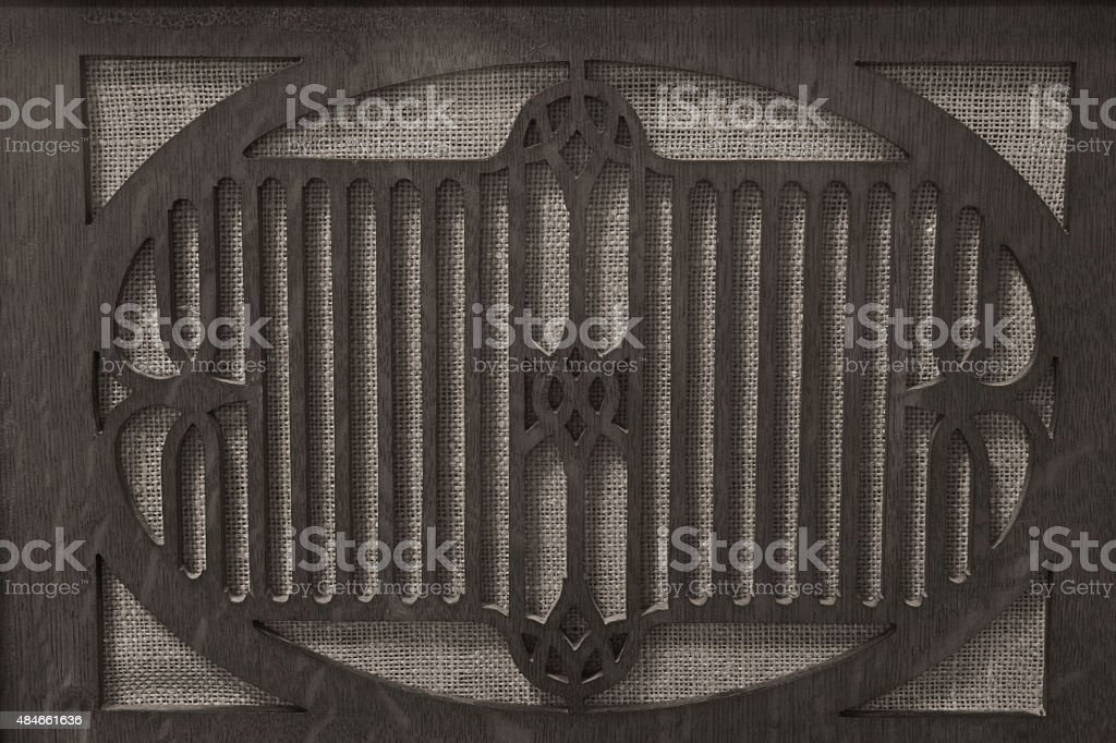 Antique Radio Grille de Gramophone photo libre de droits
