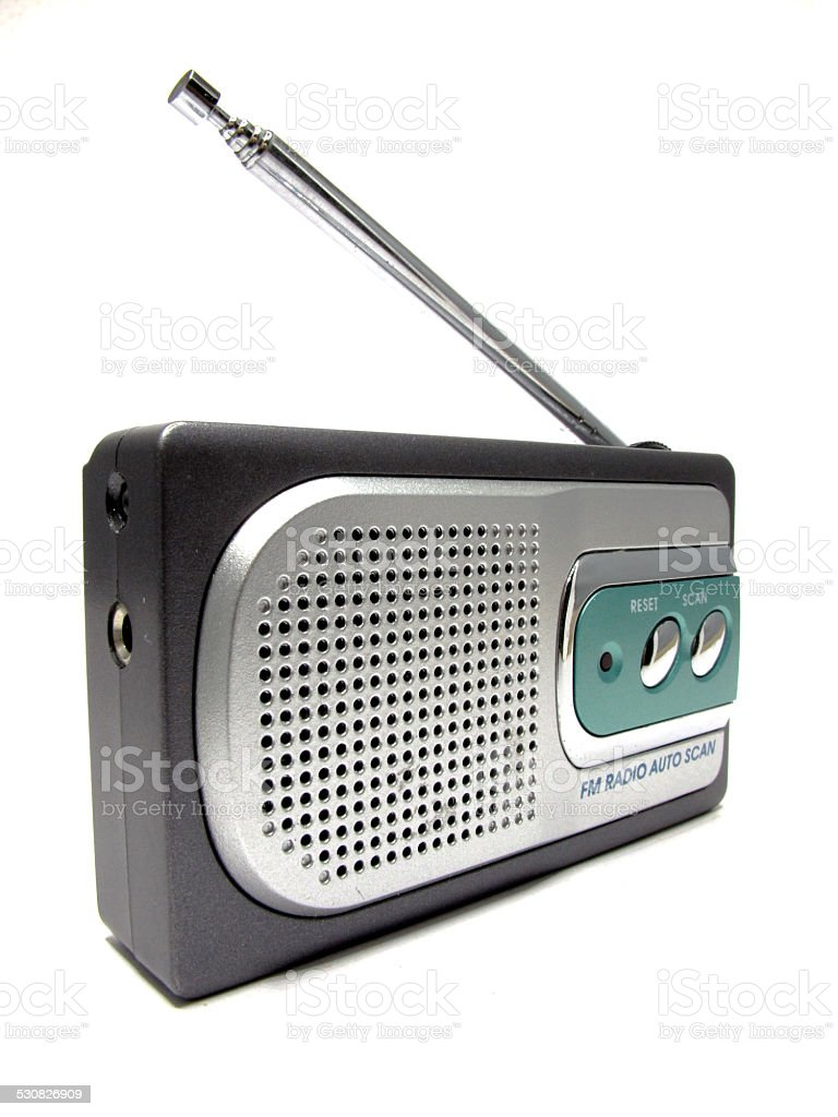 antique radio with vintage style stock photo