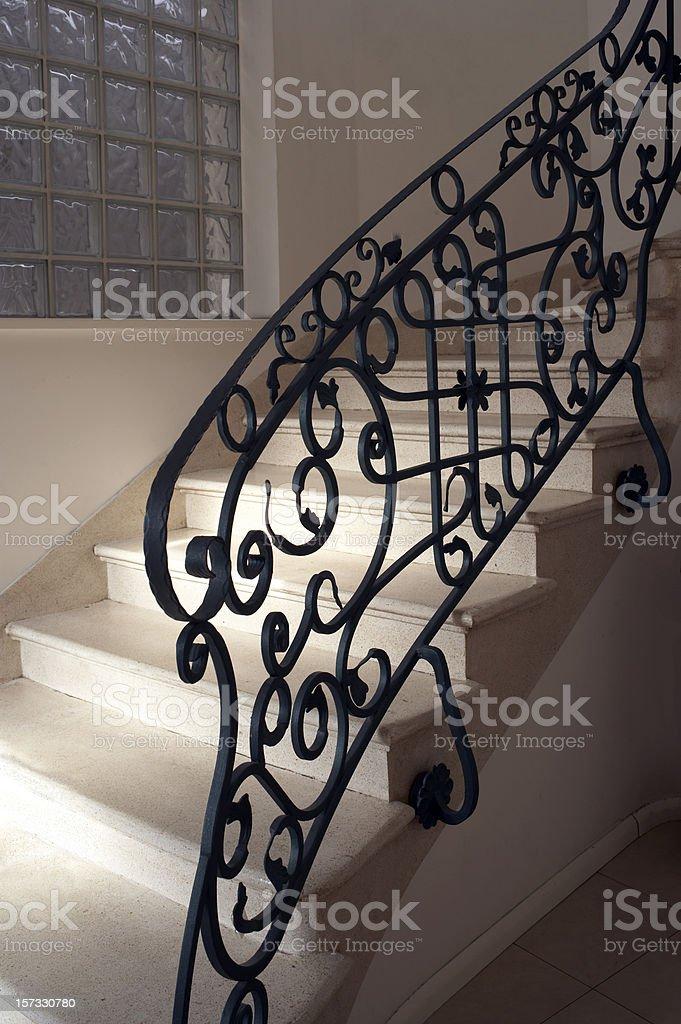 Antique railing stock photo