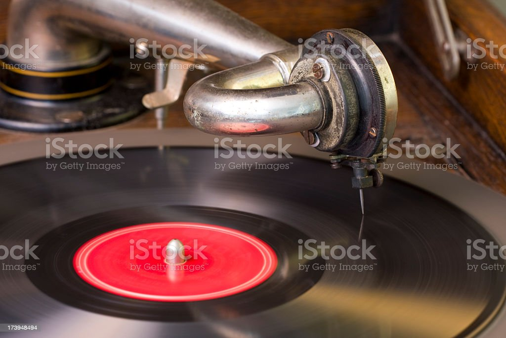 Antique Record Player royalty-free stock photo