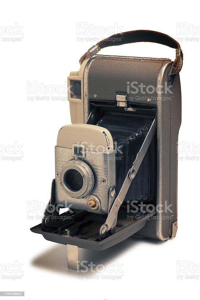Antique Retro Camera Isolated on White stock photo
