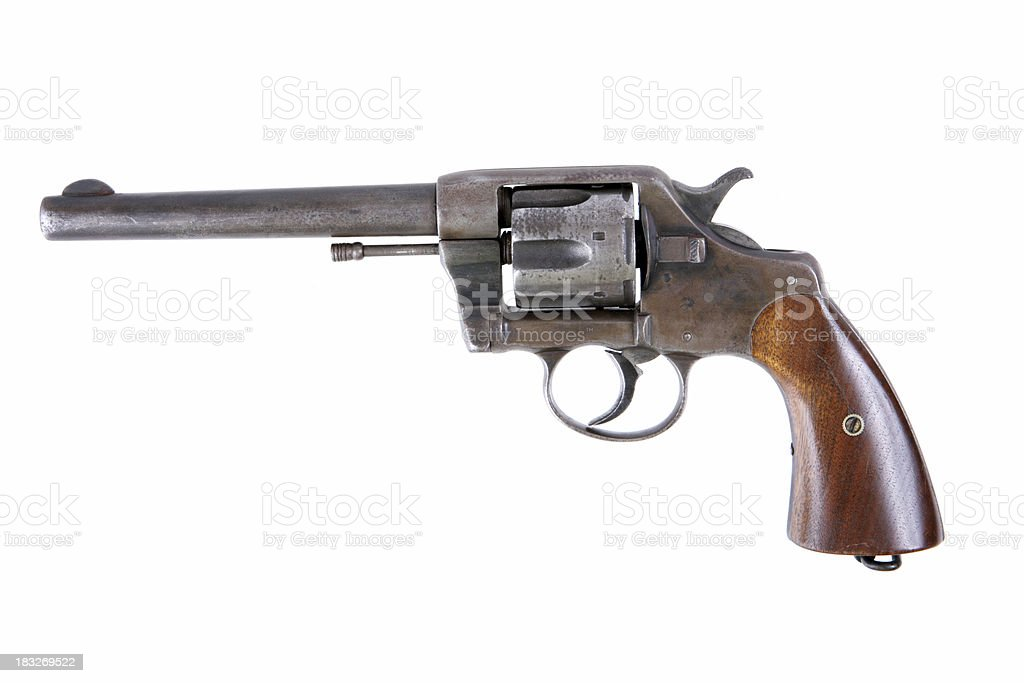 Antique Revolver - Colt 45 stock photo