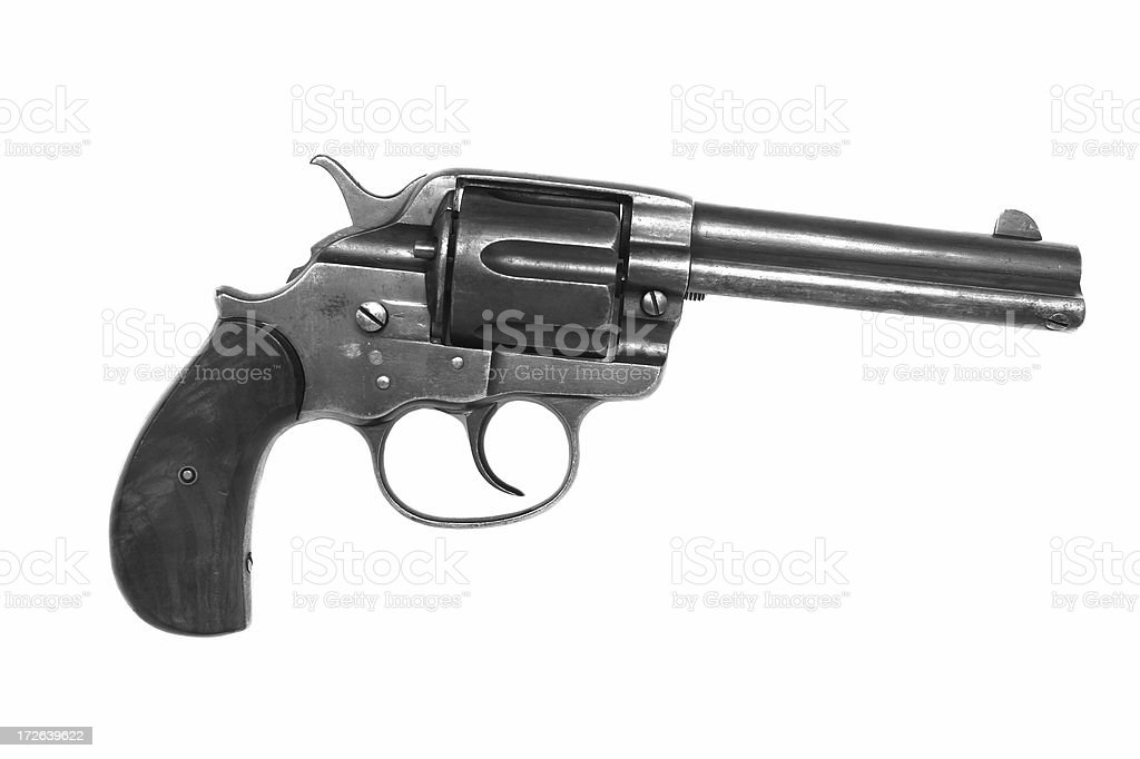Antique Revolver stock photo