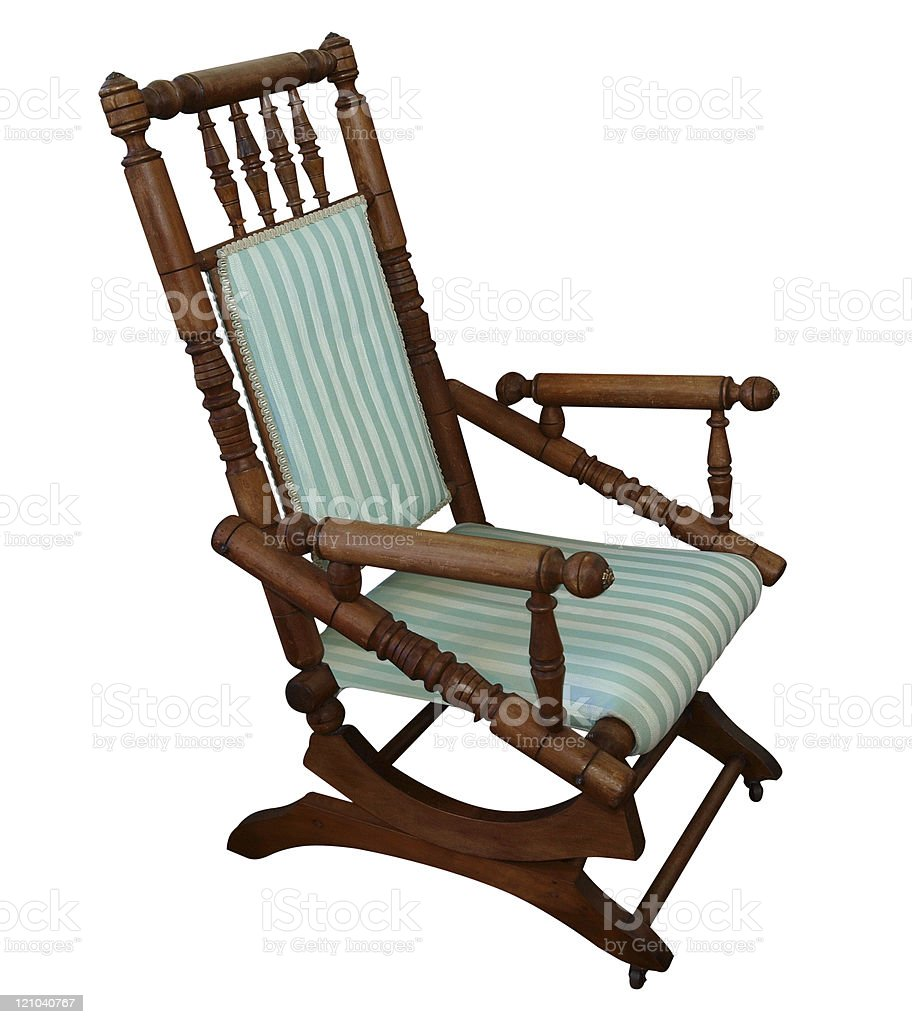 Antique Rocking Chair stock photo