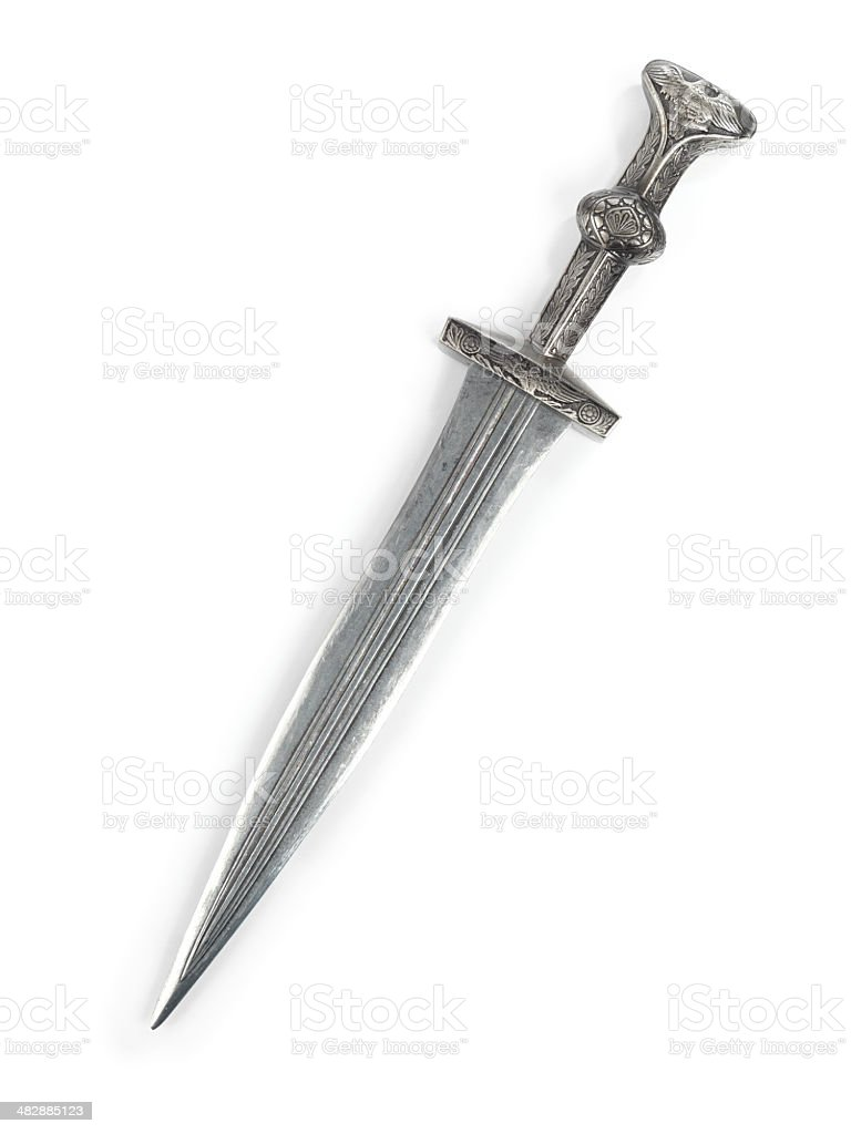 Antique Roman Dagger stock photo
