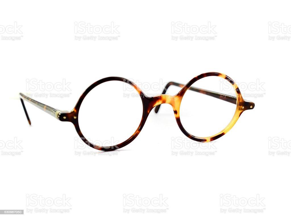 Antique round glasses stock photo