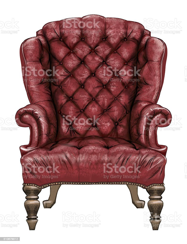 Antique Royal Chair stock photo