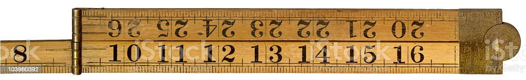 antique ruler royalty-free stock photo