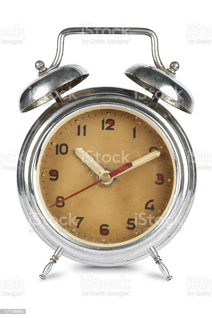 Antique Rusted Alarm Clock royalty-free stock photo