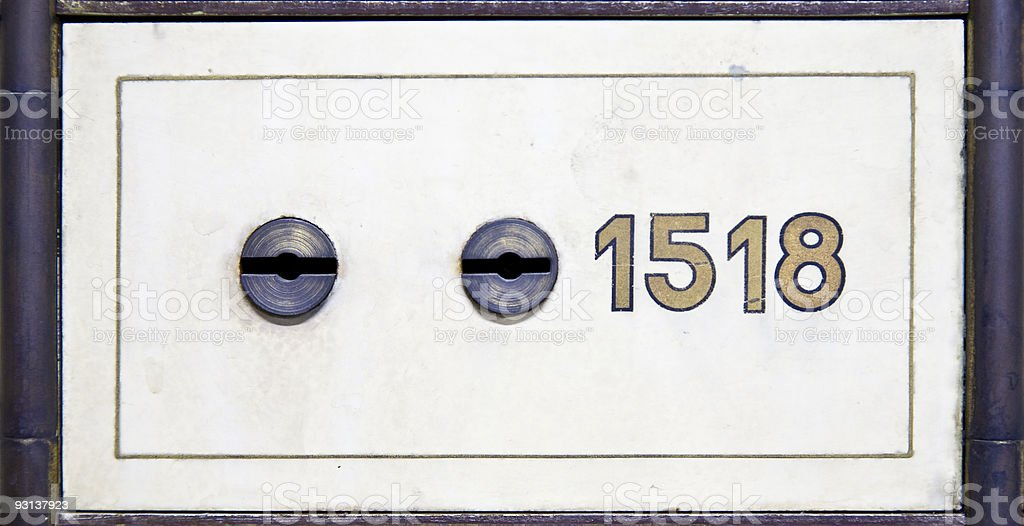 Antique safe deposit box royalty-free stock photo