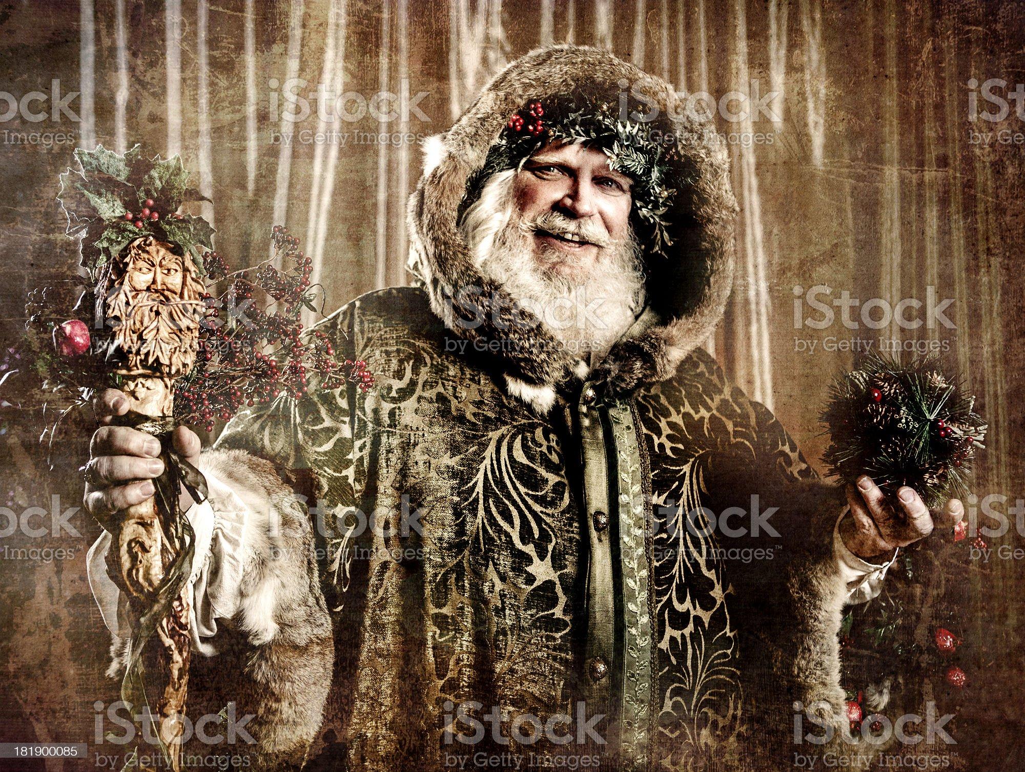 Antique Santa royalty-free stock photo