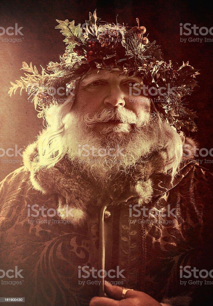 Antique Santa stock photo