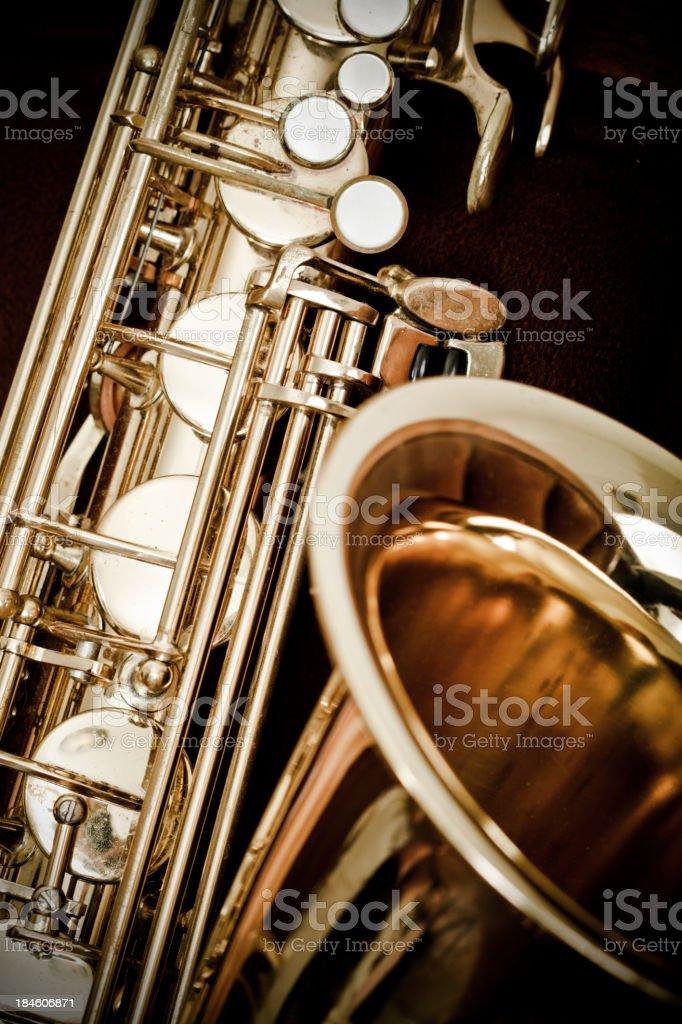 Antique Saxophone stock photo