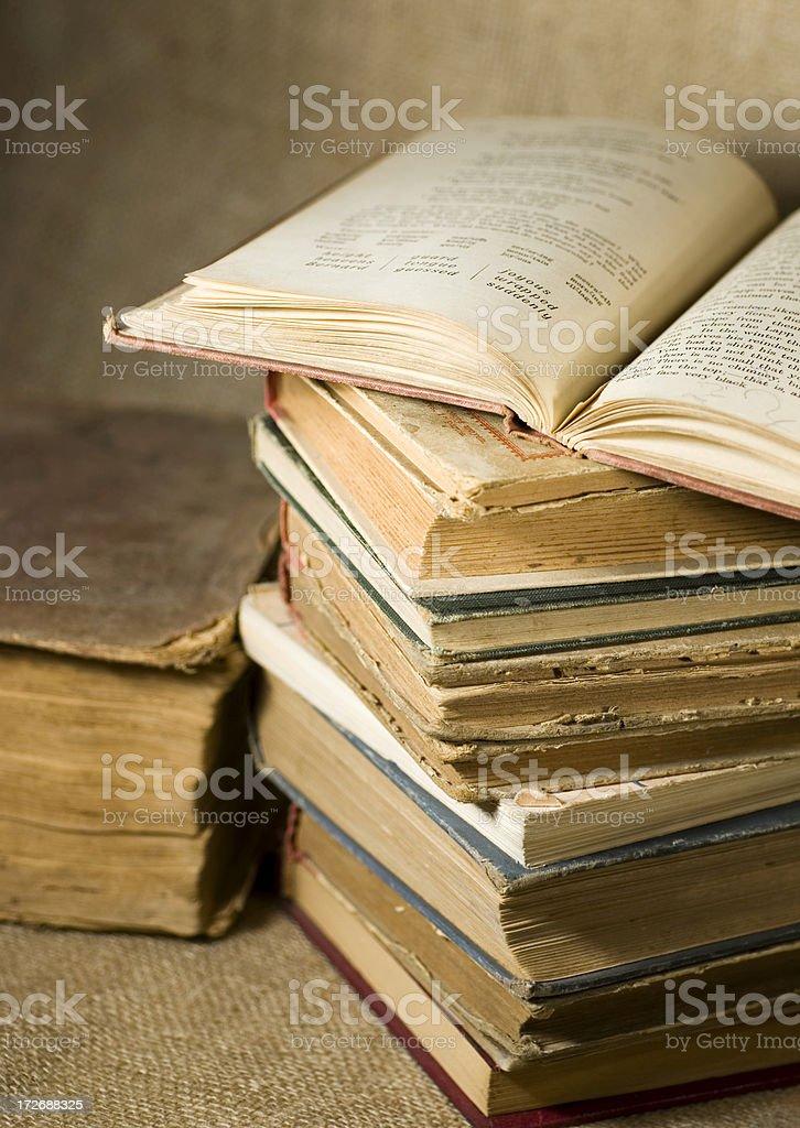 antique school books royalty-free stock photo