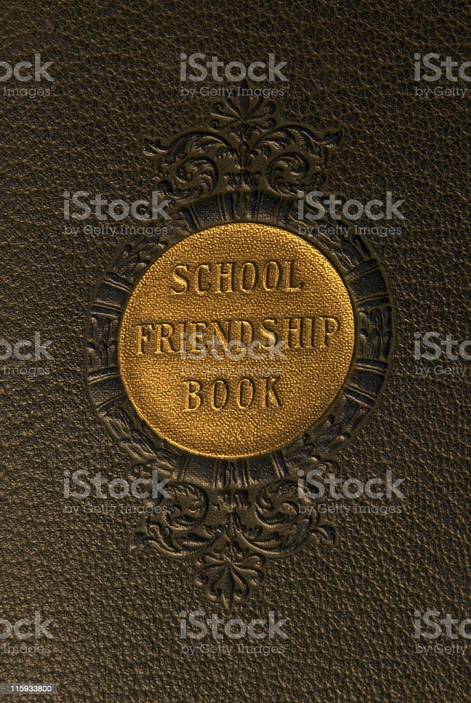 Antique School Yearbook royalty-free stock photo