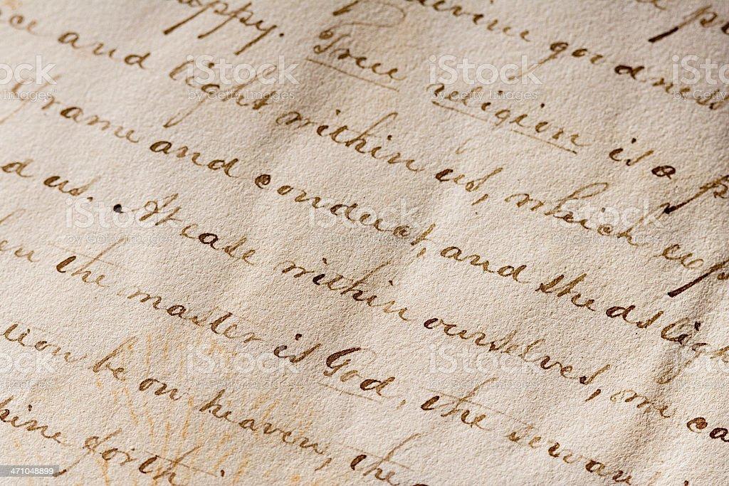 Antique Script royalty-free stock photo