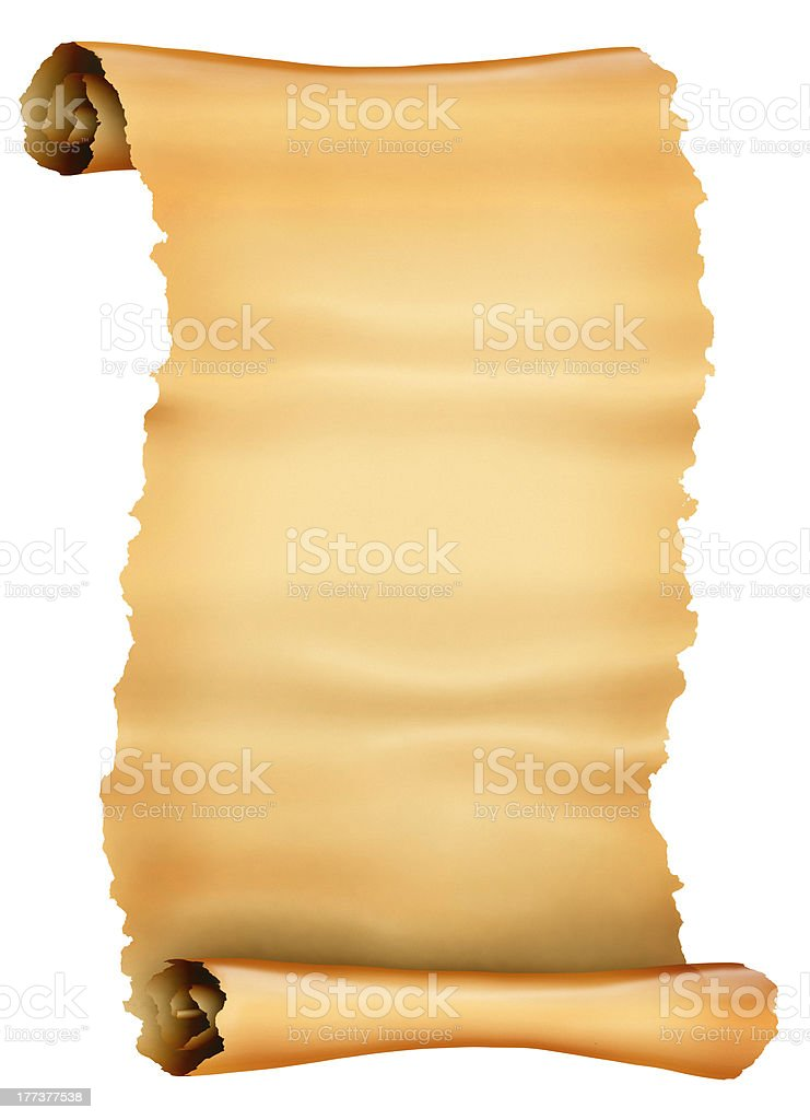 Antique scroll of parchment royalty-free stock photo
