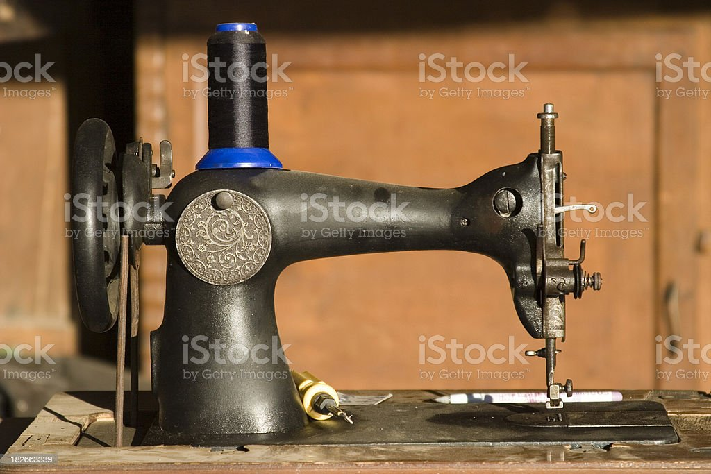 Antique sewing machine royalty-free stock photo