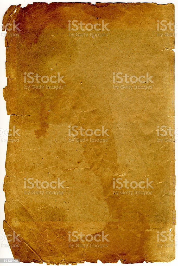 antique sheet is made in 1890 as texture stock photo