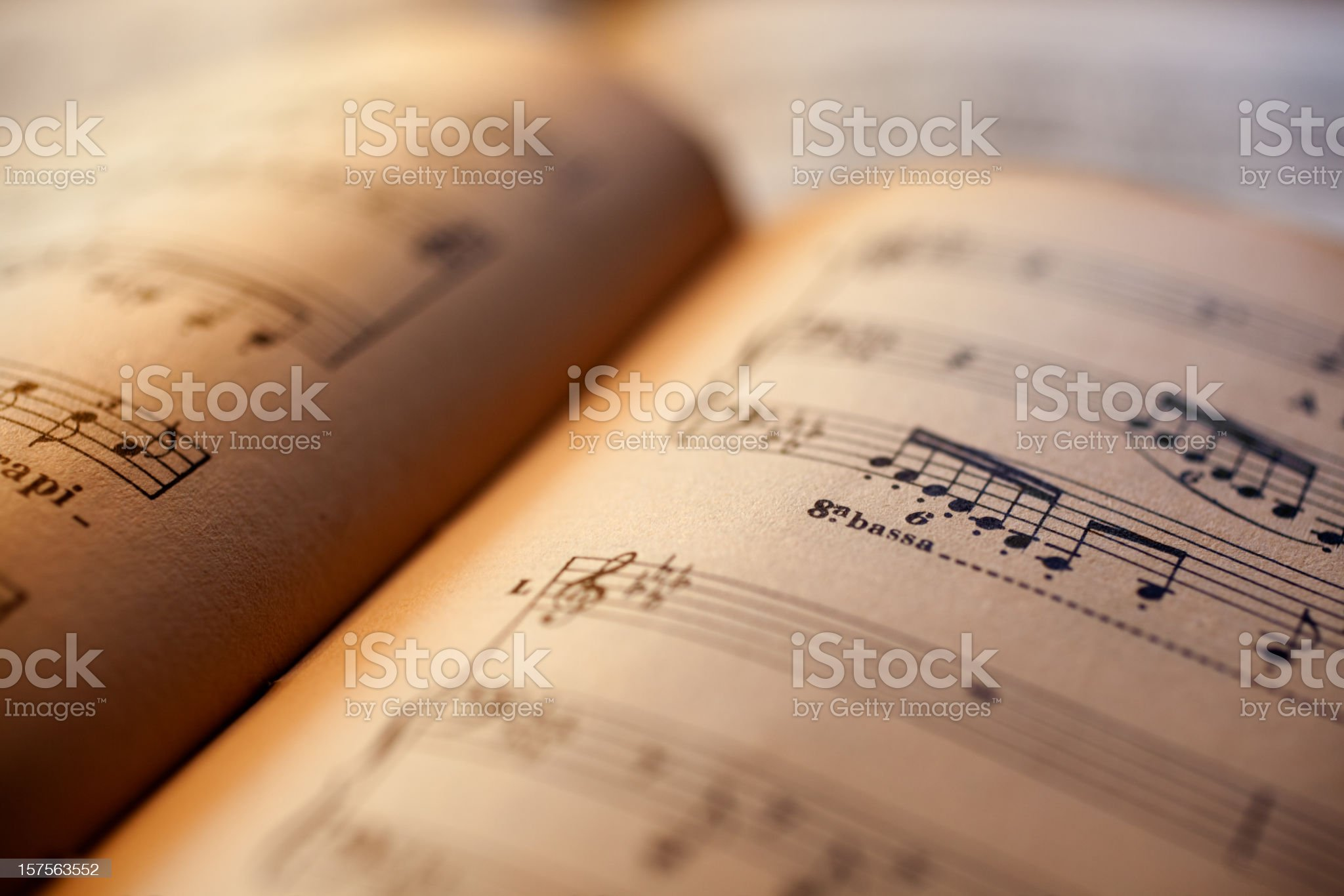 Antique sheet music book royalty-free stock photo