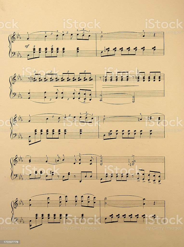 Antique Sheet Music royalty-free stock photo