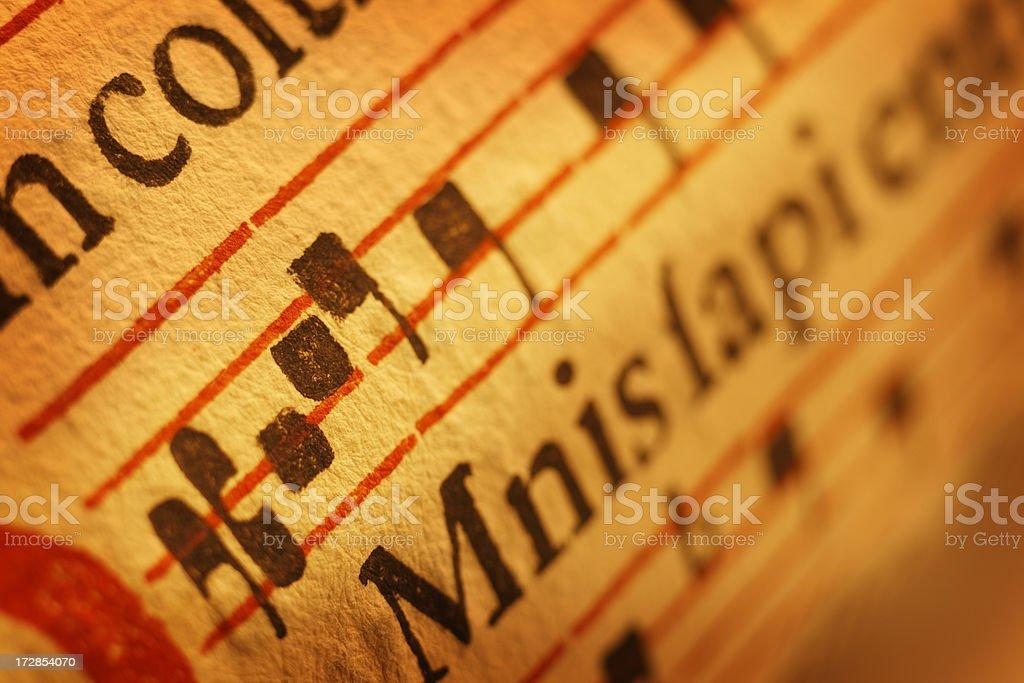 Antique Sheet Music royalty-free stock photo