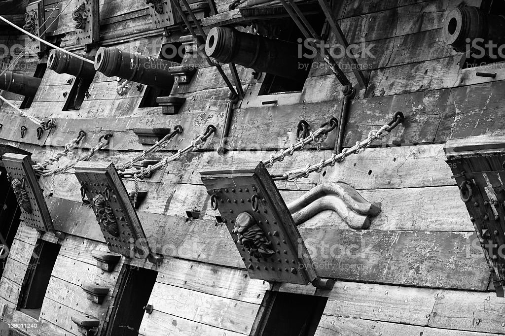 Antique ship stock photo