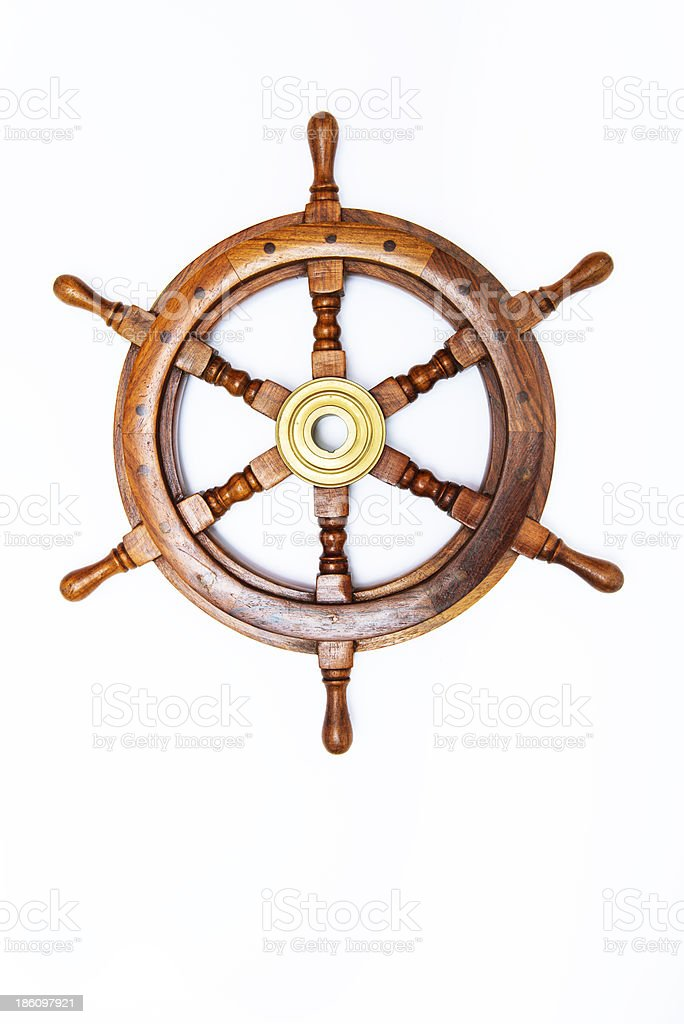 Antique ship rudder stock photo