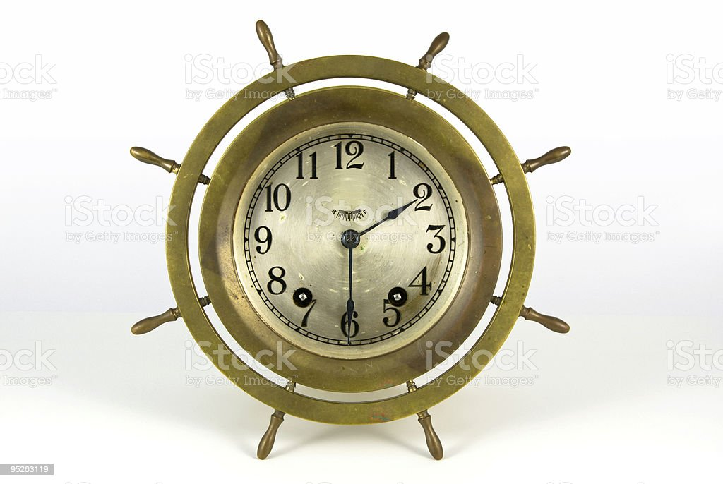 Antique Ships Bell Clock royalty-free stock photo