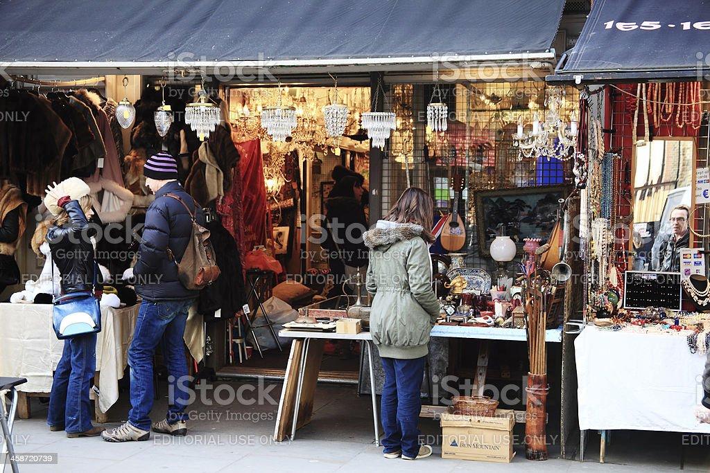 Antique Shop In Portobello Road stock photo